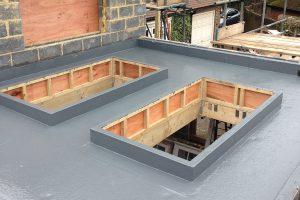 fibreglass roof installation