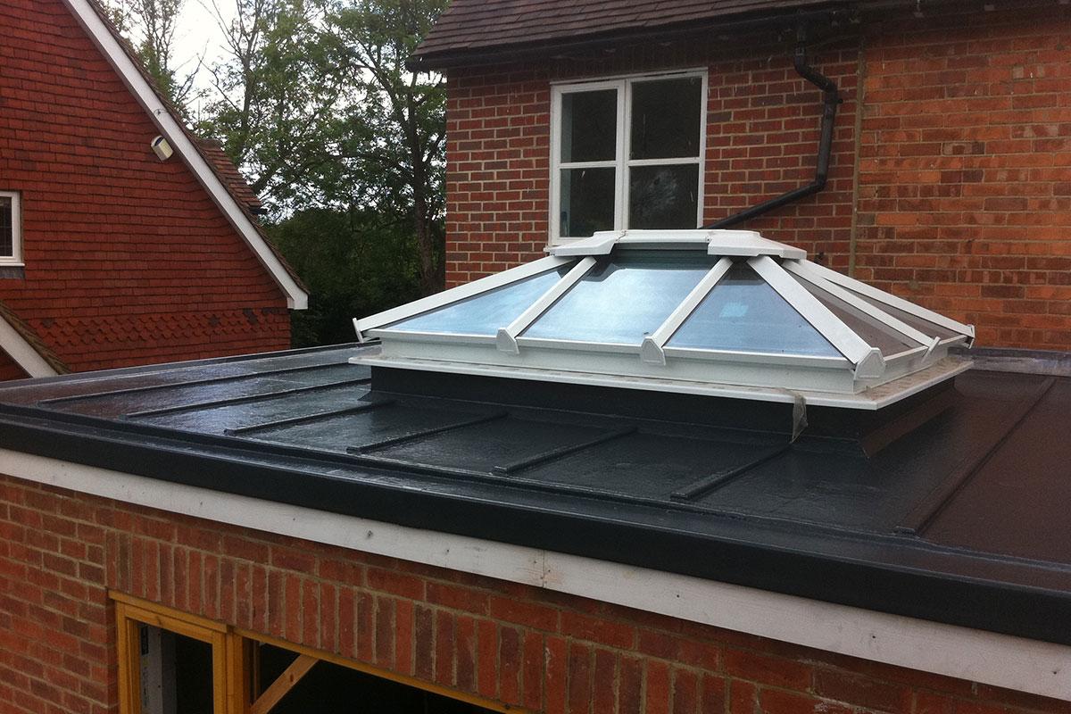 bespoke fibreglass roof